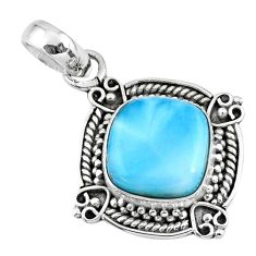 4.67cts natural blue larimar 925 sterling silver pendant jewelry r57811