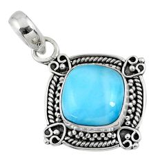 5.06cts natural blue larimar 925 sterling silver pendant jewelry r57812