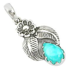 2.72cts natural blue larimar 925 silver handmade pendant r77750