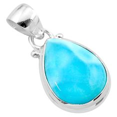 8.71cts natural blue larimar 925 sterling silver pendant jewelry t24365