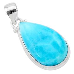 14.06cts natural blue larimar 925 sterling silver pendant jewelry t24422