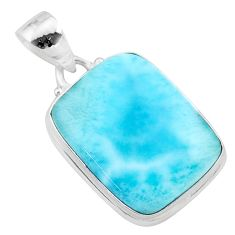 16.54cts natural blue larimar 925 sterling silver pendant jewelry t24446