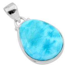 13.15cts natural blue larimar 925 sterling silver pendant jewelry t24469