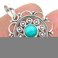 3.10cts natural blue larimar 925 sterling silver pendant jewelry t32748