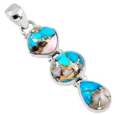 14.68cts natural blue opal in turquoise 925 sterling silver pendant r56210
