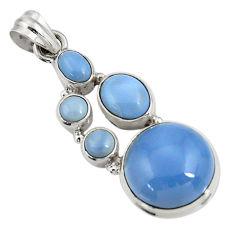 blue owyhee opal 925 sterling silver pendant jewelry d42447