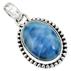 13.15cts natural blue owyhee opal 925 sterling silver pendant jewelry r26534