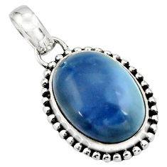 13.73cts natural blue owyhee opal 925 sterling silver pendant jewelry r26536