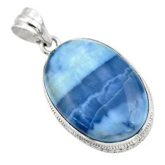 20.35cts natural blue owyhee opal 925 sterling silver pendant jewelry r32156