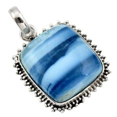23.11cts natural blue owyhee opal 925 sterling silver pendant jewelry r32160