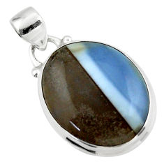 12.65cts natural blue owyhee opal 925 sterling silver pendant jewelry r46402