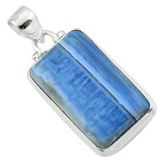 13.62cts natural blue owyhee opal 925 sterling silver pendant jewelry r46415