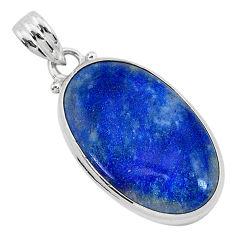14.72cts natural blue quartz palm stone 925 sterling silver pendant r94837