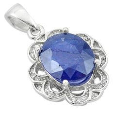 6.80cts natural blue sapphire topaz 925 sterling silver pendant jewelry c18102
