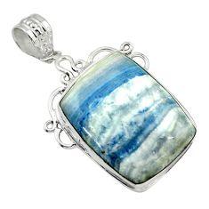 20.15cts natural blue scheelite (lapis lace onyx) 925 silver pendant r32122