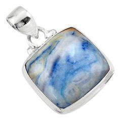 13.15cts natural blue scheelite (lapis lace onyx) 925 silver pendant r46422