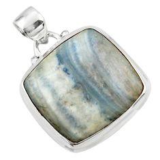 17.10cts natural blue scheelite (lapis lace onyx) 925 silver pendant r46434