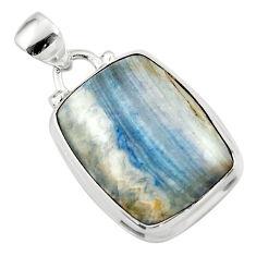 14.57cts natural blue scheelite (lapis lace onyx) 925 silver pendant r46435