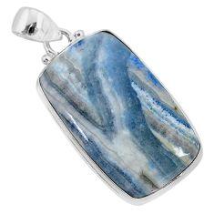 22.45cts natural blue scheelite (lapis lace onyx) 925 silver pendant r94815