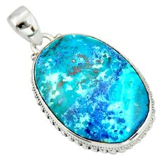 27.08cts natural blue shattuckite 925 sterling silver pendant jewelry r20842