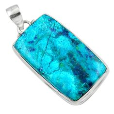 21.48cts natural blue shattuckite 925 sterling silver pendant jewelry r50481