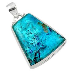 16.20cts natural blue shattuckite 925 sterling silver pendant jewelry r50508