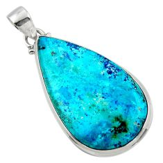 18.15cts natural blue shattuckite 925 sterling silver pendant jewelry r50524