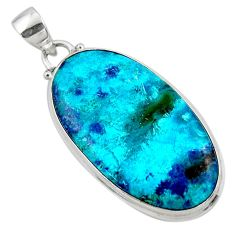 19.23cts natural blue shattuckite 925 sterling silver pendant jewelry r50525