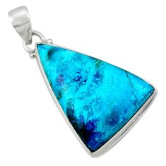 18.15cts natural blue shattuckite 925 sterling silver pendant jewelry r50532