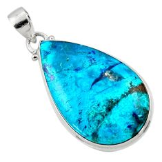 19.23cts natural blue shattuckite 925 sterling silver pendant jewelry r50534
