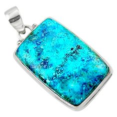 19.72cts natural blue shattuckite 925 sterling silver pendant jewelry r50535
