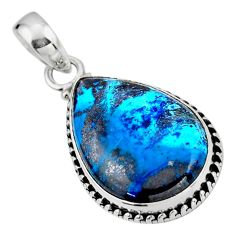 15.05cts natural blue shattuckite 925 sterling silver pendant jewelry r53858