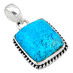 13.15cts natural blue shattuckite 925 sterling silver pendant jewelry r53860