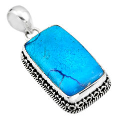 20.07cts natural blue shattuckite 925 sterling silver pendant jewelry r53871