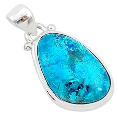 10.65cts natural blue shattuckite 925 sterling silver pendant jewelry r94926