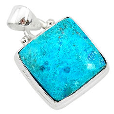 10.67cts natural blue shattuckite 925 sterling silver pendant jewelry r94931