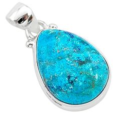 10.08cts natural blue shattuckite 925 sterling silver pendant jewelry r94980