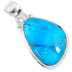 13.15cts natural blue shattuckite 925 sterling silver pendant jewelry r95014