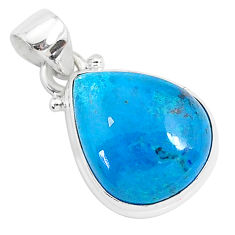 11.57cts natural blue shattuckite 925 sterling silver pendant jewelry r95020
