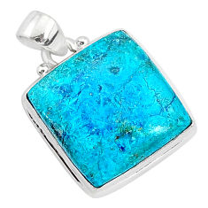 16.20cts natural blue shattuckite 925 sterling silver pendant jewelry r95042