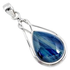 14.07cts natural blue swedish slag 925 sterling silver pendant jewelry r94537