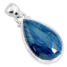 12.58cts natural blue swedish slag 925 sterling silver pendant jewelry r94539