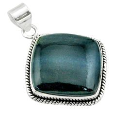 22.07cts natural blue swedish slag 925 sterling silver pendant jewelry t53552