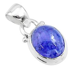 4.69cts natural blue tanzanite 925 sterling silver pendant jewelry t19025