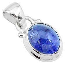 4.73cts natural blue tanzanite 925 sterling silver pendant jewelry t19027