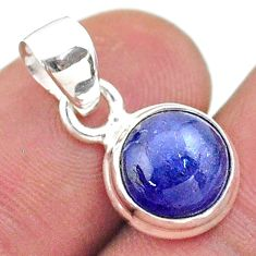 4.71cts natural blue tanzanite 925 sterling silver pendant jewelry t44681