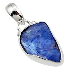 4.91cts natural blue tanzanite rough 925 sterling silver pendant jewelry r29941