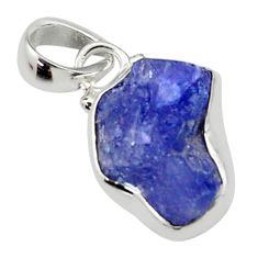 5.44cts natural blue tanzanite rough 925 sterling silver pendant jewelry r29956