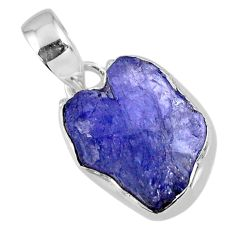 8.87cts natural blue tanzanite rough 925 sterling silver pendant jewelry r56583