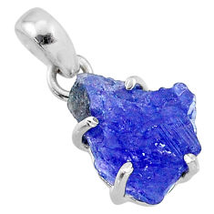 10.56cts natural blue tanzanite rough 925 sterling silver pendant jewelry r65069
